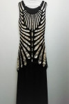 Black and Gold Long Gatsby Dress