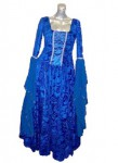 Blue Medieval Dropsleeve Dress
